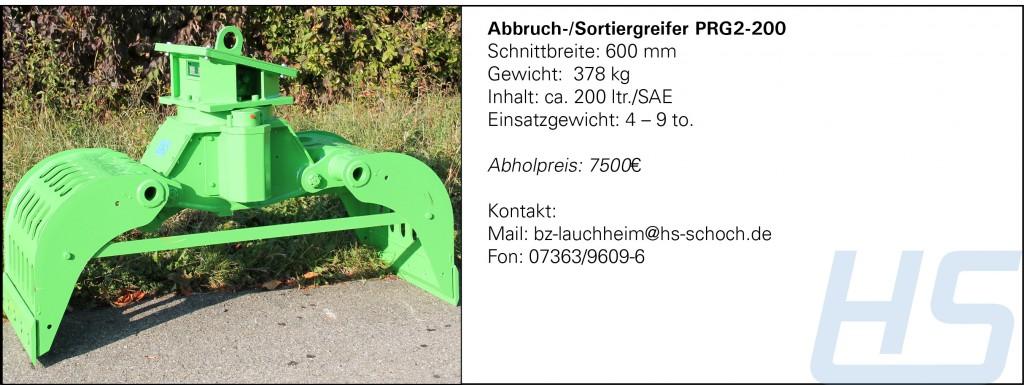 Abbruch-Sortiergreifer PRG2-200