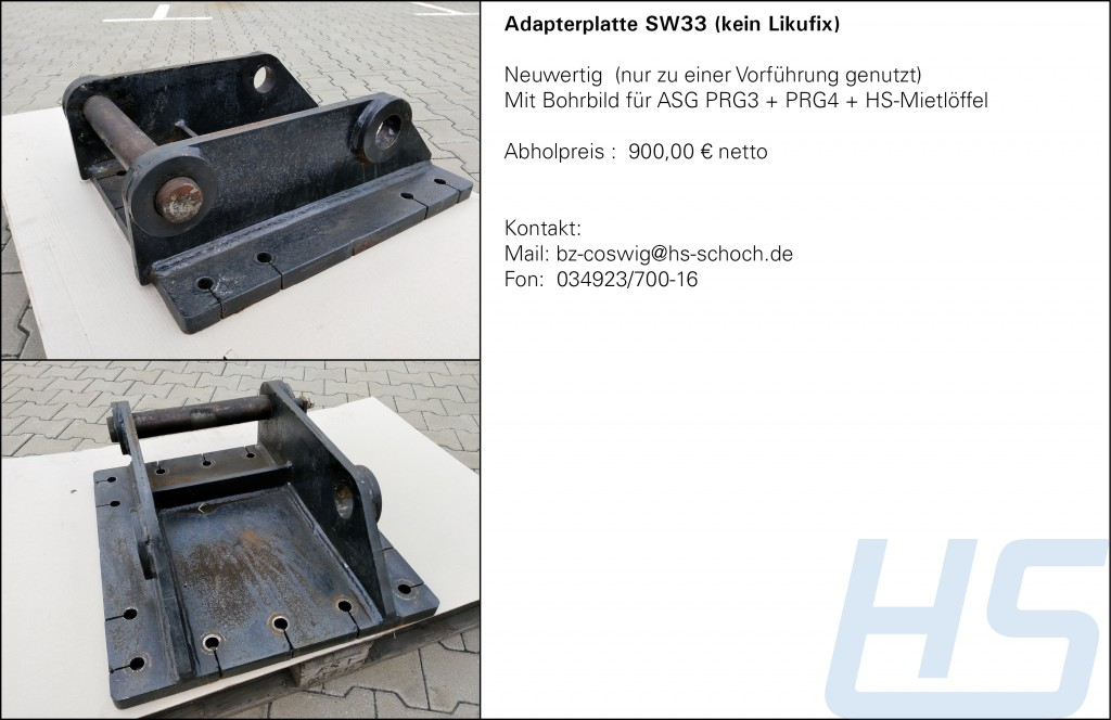 Adapterplatte SW33
