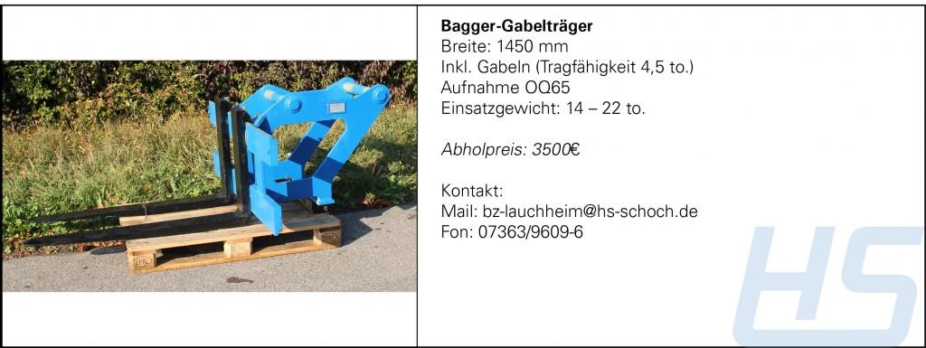 Bagger-Gabelträger