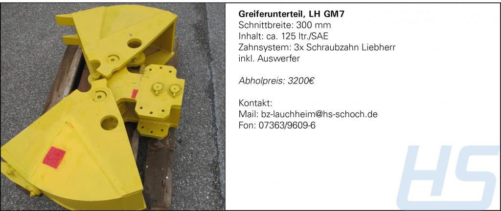 Greiferunterteil, LH GM7