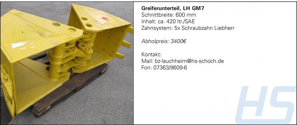 Greiferunterteil, LH GM7_600