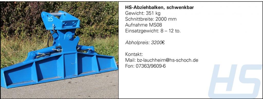 HS-Abziehbalken