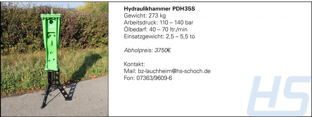 Hydraulikhammer PDH35S