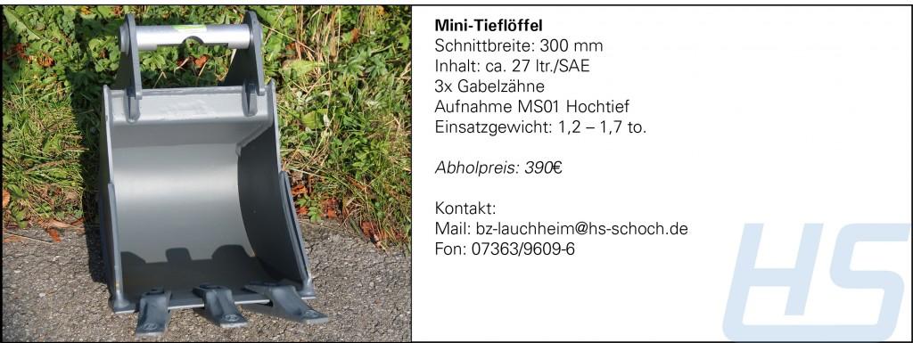 Mini-Tieflöffel