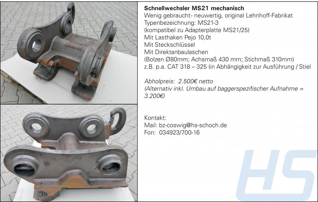 Schnellwechsler MS21 mechanisch