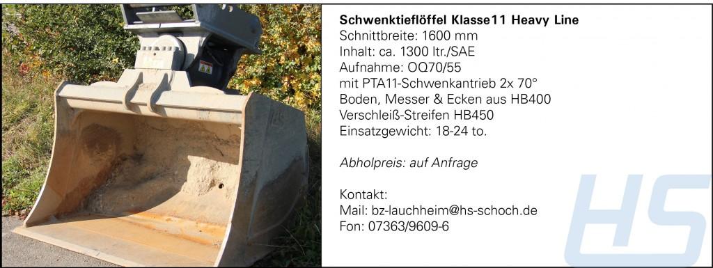 Schwenktieflöffel Klasse11 Heavy Line