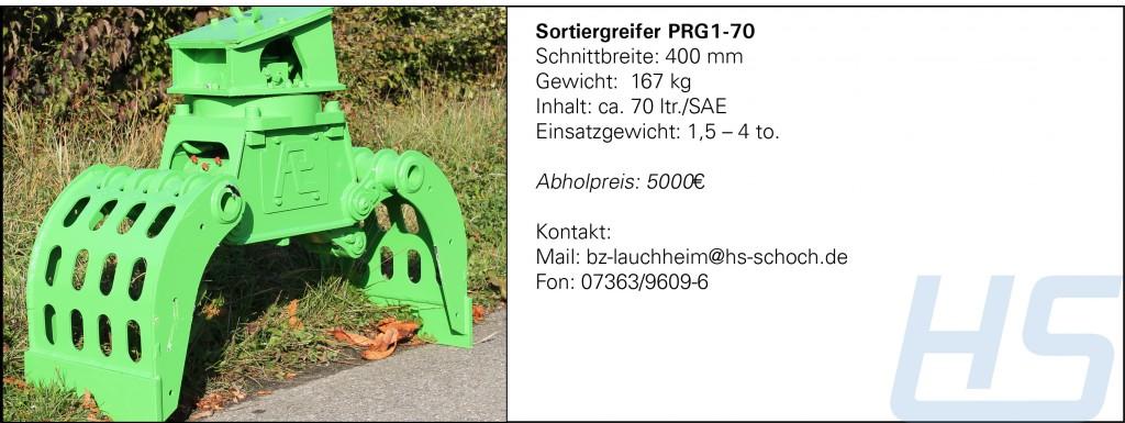 Sortiergreifer PRG1-70