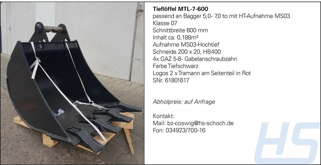 Tieflöffel MTL-7-600