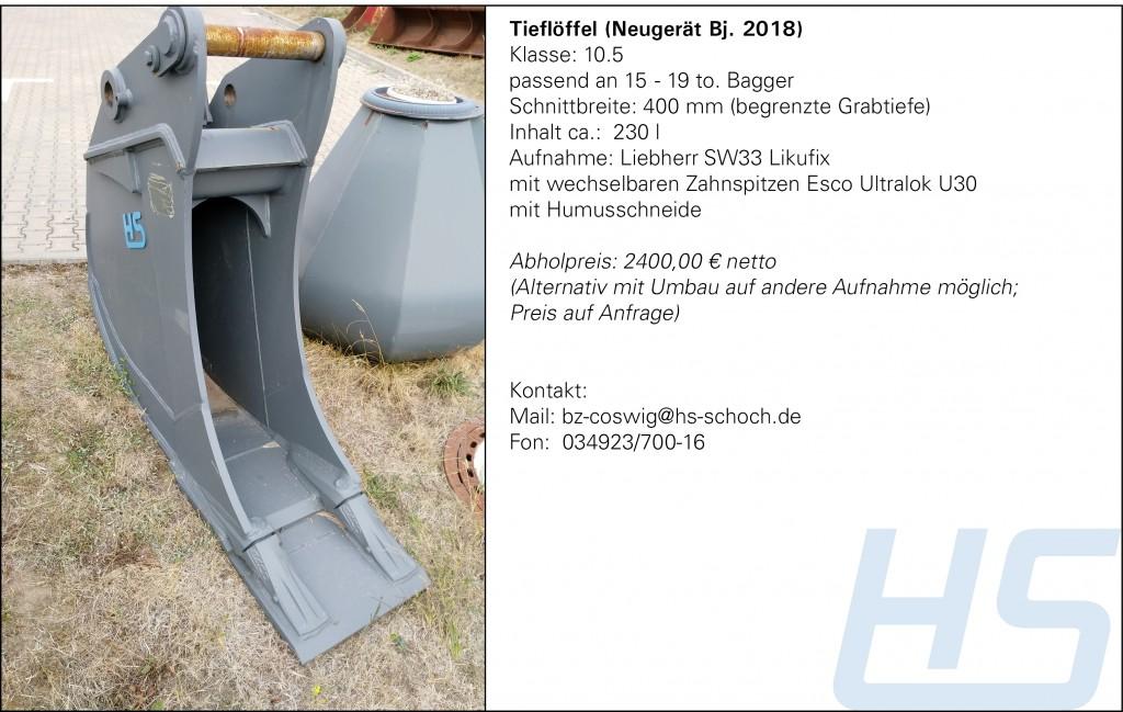 Tieflöffel (Neugerät Bj. 2018)