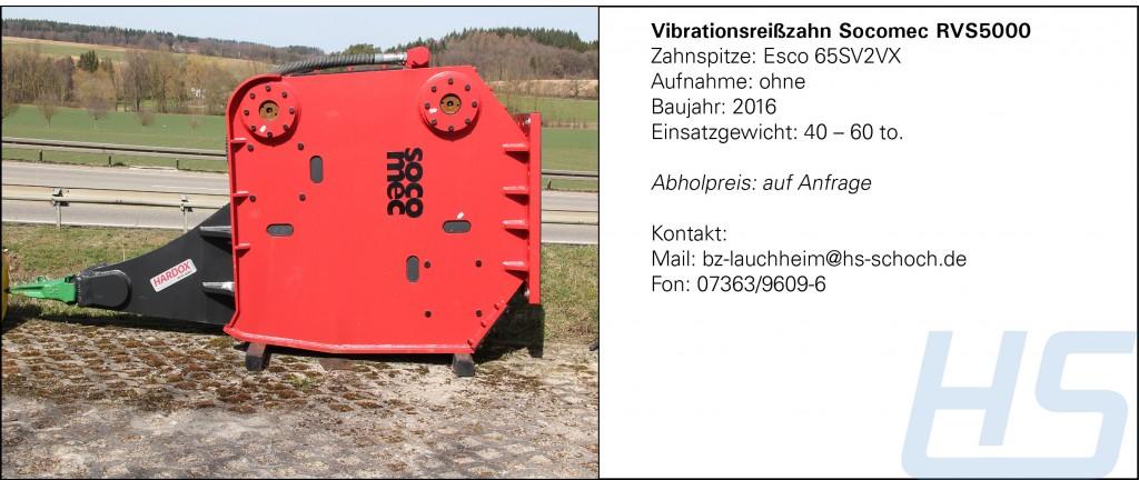 Vibrationsreißzahn Socomec RVS5000